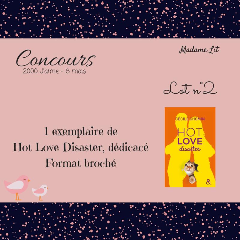 Concours 2000 J'aime - 6 mois : Lot n°2