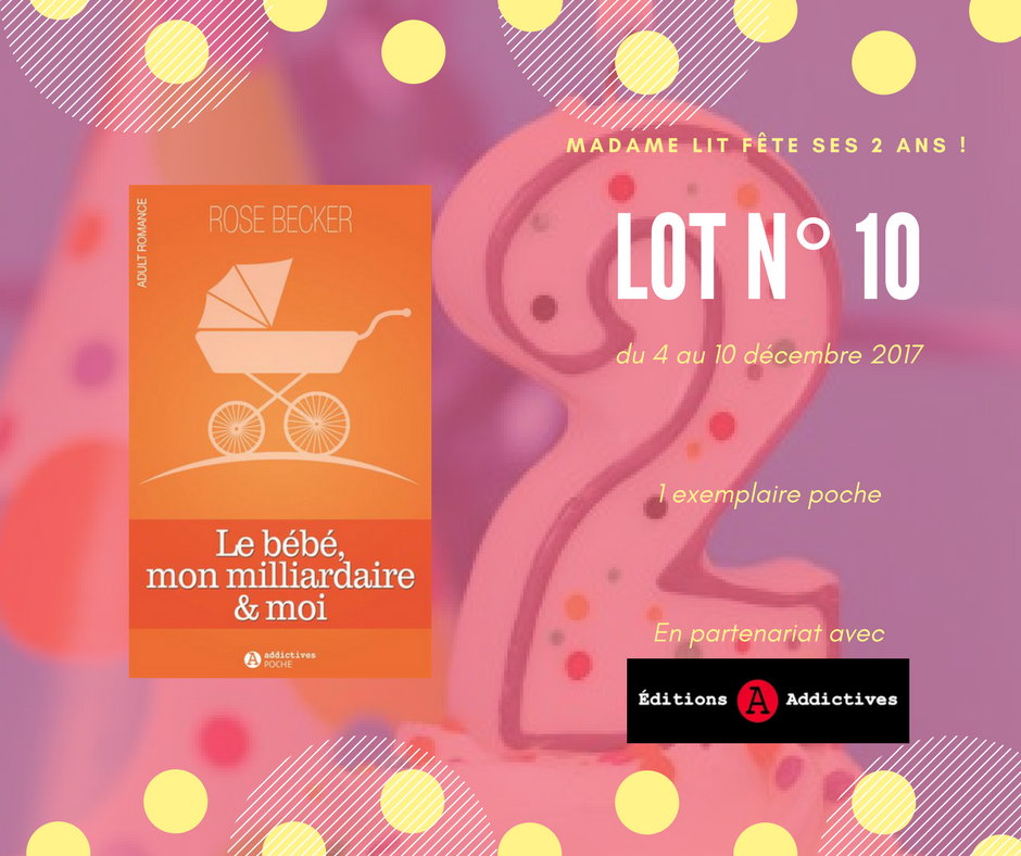 Concours anniversaire 2 ans : Lot N° 10